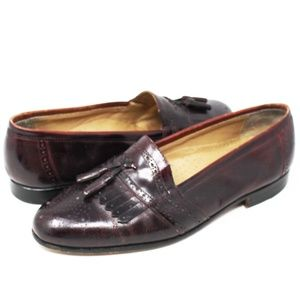 Classics Brown Kiltied Tassel Leather Loafer 10
